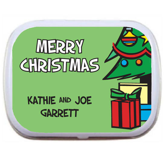Christmas Tree Mint Tin