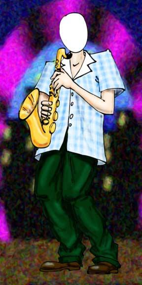 Jazz Player, Caucasion, Photo Op