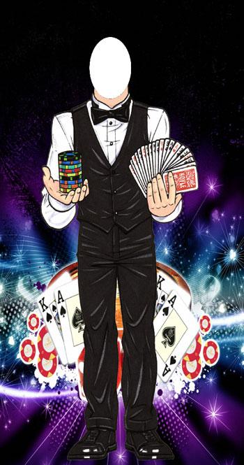 Casino Dealer Photo Op Stand In