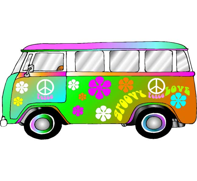 Hippie Retro, VW Bus Photo Op