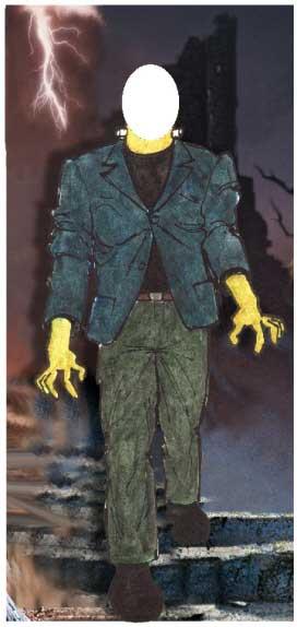 Halloween Photo Op, Frankenstein