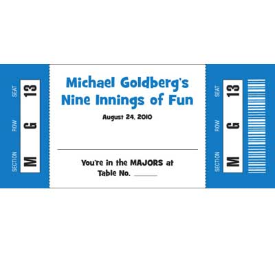 Baseball All Star Theme Seating Card