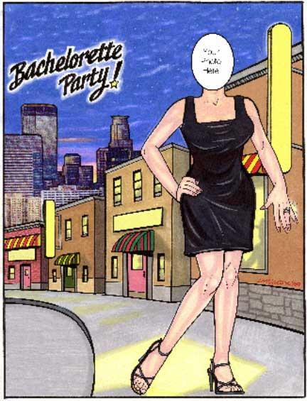Bachelorette Party Semi Custom Caricature
