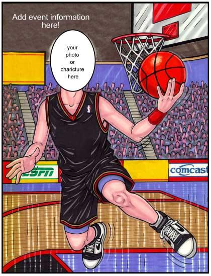 Basketball Semi Custom Caricature