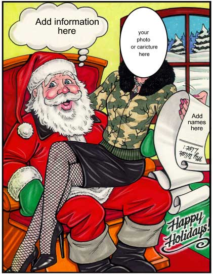 Christmas Semi Custom Caricature, Santa's Helper