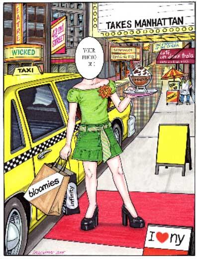 New York Semi Custom Caricature