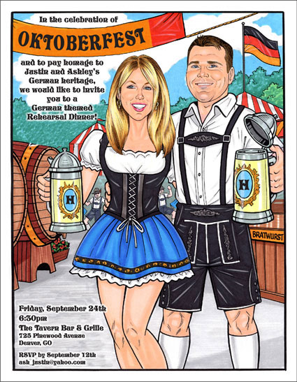 Oktoberfest Couple Invitation, Add Your Face
