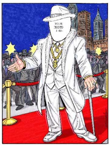 Rich Man Semi Custom Caricature