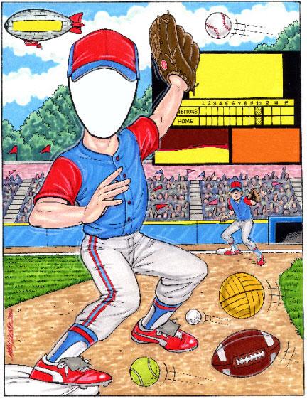 Sports Lover Semi Custom Caricature