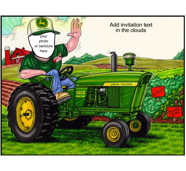 Tractor Semi Custom Caricature