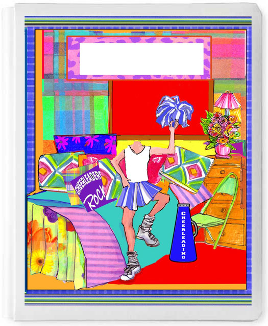 Personalized 3D Sign In Book, Cheerleader