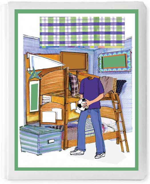 Personalized 3D Sign In Book, Dorm or Camp Boy
