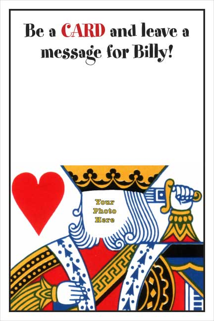 Casino Card, King Sign In Board
