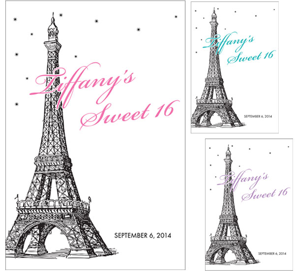 Paris Party Theme Sign in Board