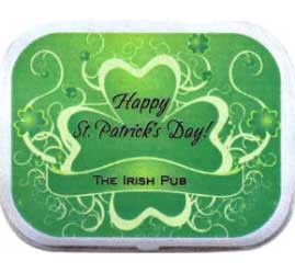 St. Patrick's Day Green Shamrocks Theme Mint Tin