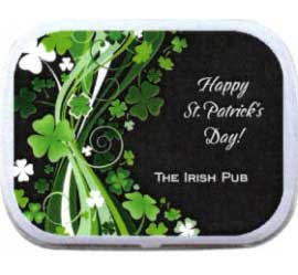 St. Patrick's Day Shamrocks Theme Mint Tin