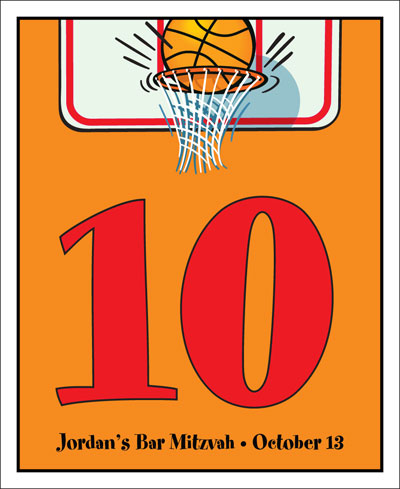Basketball Hoops Theme Table Number