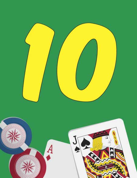 Casino Cards Theme Table Number