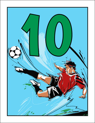 Soccer Party Table Number