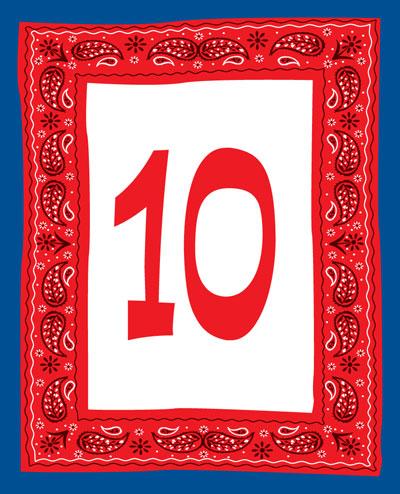 Western Bandana Table Number