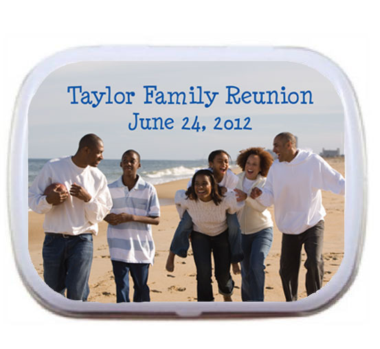 A Custom Family Reunion Photo Mint Tin