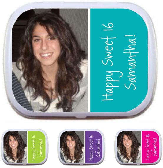A Custom Sweet 16 Photo Mint Tin