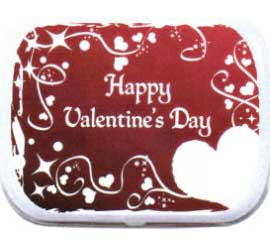 Valentine's Day Theme Mint Tin, Red Hearts