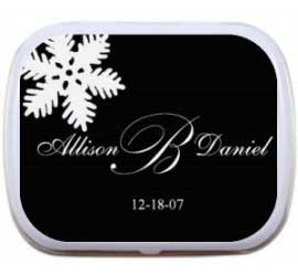 Wedding Winter Theme Mint Tin