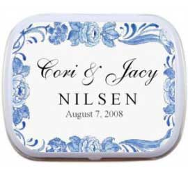 Wedding Mint Tin, Classic Blue