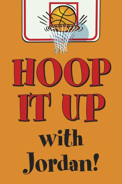 Basketball Hoops Theme Welcome Sign
