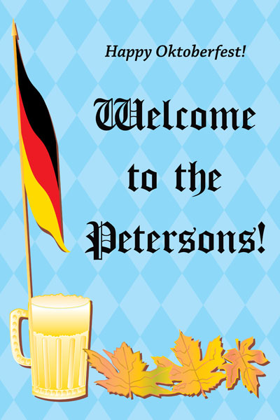 Oktoberfest Party Welcome Sign