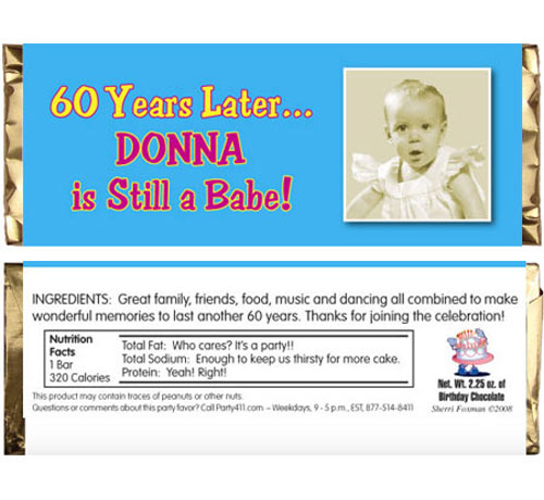 Birthday Babe Theme Photo Candy Bar Wrapper