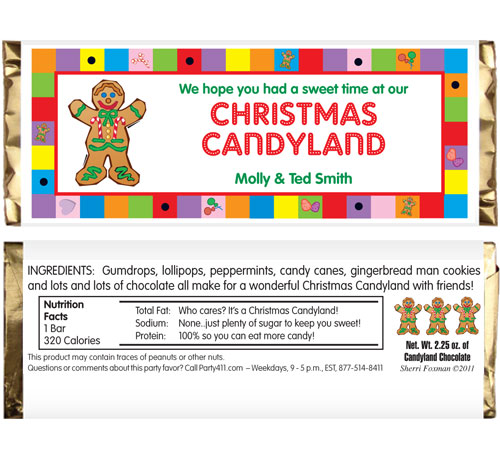 Christmas Candyland Theme Party.Christmas Candyland Theme Candy Bar Wrapper