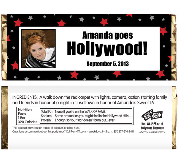 Hollywood Star Candy Bar Wrapper