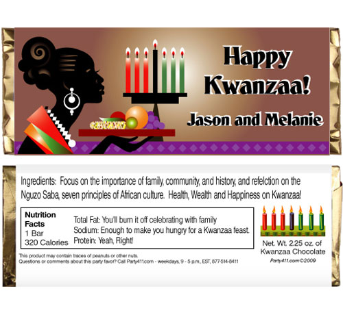 Kwanzaa Celebration Theme Candy Bar Wrapper