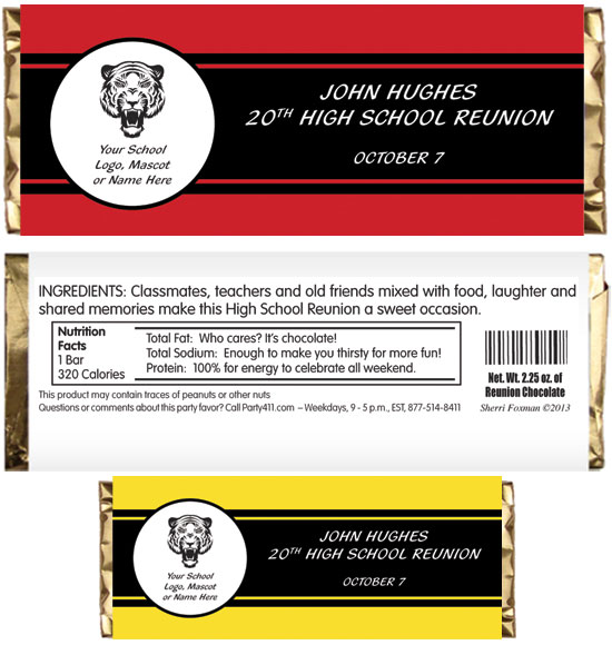 Reunion Theme Candy Bar Wrapper