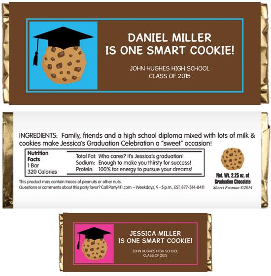 Graduation Smart Cookie Theme Candy Bar Wrapper