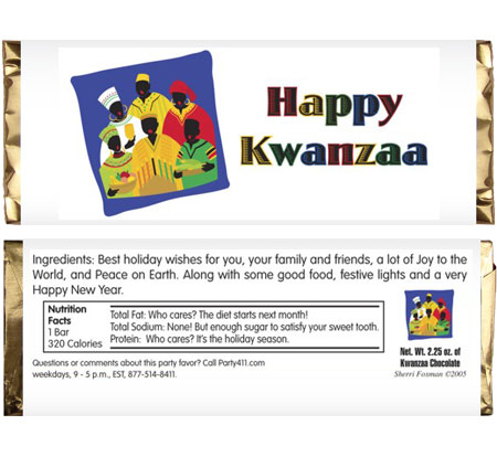 Kwanzaa Let's Celebrate Candy Bar Wrapper