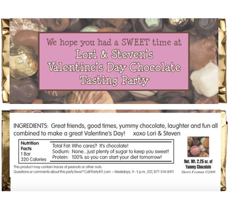 Valentine's Day Chocolates Theme Candy Bar Wrapper