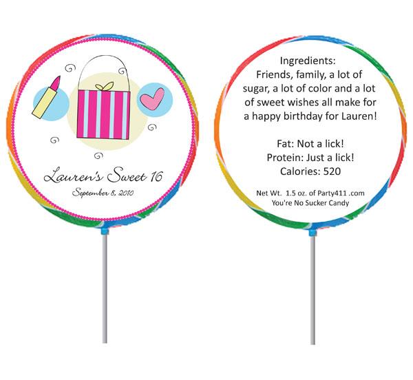 Custom Lollipop, Girls Theme