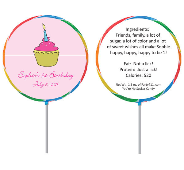 Cupcake Custom Lollipop