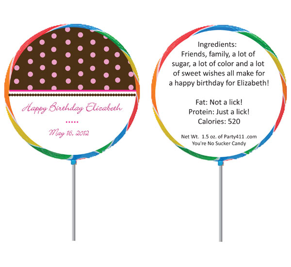 Custom Lollipop, Polka Dots Theme