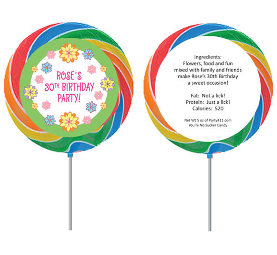 Flower Theme Custom Lollipop
