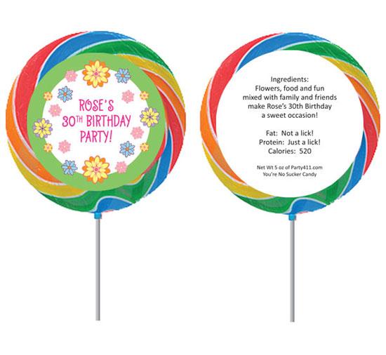 Flower Theme Custom Lollipop