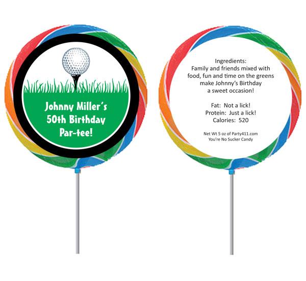 Custom Lollipop, Golf Theme