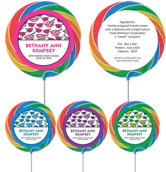 Graduation Hats Off Theme Lollipop