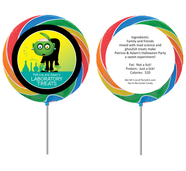 Halloween Lab Lollipop