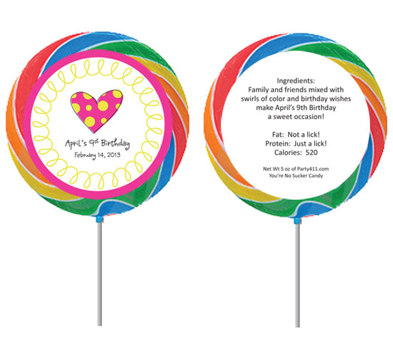 Custom Lollipop, Heart Theme