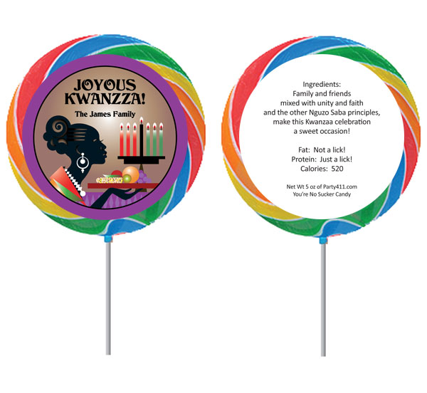 Kwanzaa Celebration Lollipop
