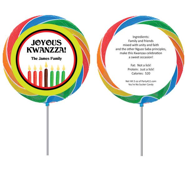 Kwanzaa Kinara Lollipop